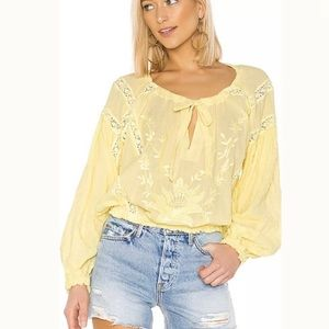 NWT Free People Maria lace blouse size small